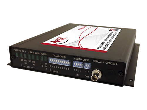 FiberLink 3396 Bidirectional 3G/HD/SD-SDI, Audio, Data, Ethernet and Contact Closure over Two Fibers